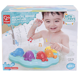 Hape, Musical Whale Fountain Bath Toy, 11 x 6 x 8 3/4 inches