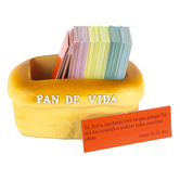 Christian Art Gifts, Pan De Vida Scripture Cards, 4 x 2 inches, 106 Cards
