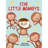 Five Little Monkeys Finger Puppet Book, by Anna Jones, Board Book