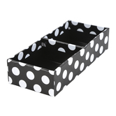 Schoolgirl Style, Simply Stylish Small Divided Tray, Black and White, 7 x 3 x 1 1/2 Inches