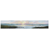 Coastal Sunset Wall Decor, Canvas, 6 1/4 x 35 1/2 x 1 Inches