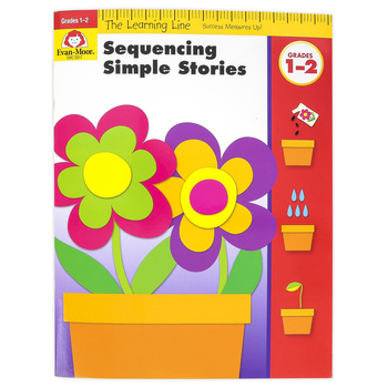 Evan-Moor, Learning Line Activity Book: Sequencing Simple Stories, 32 Pages, Grades K-1