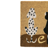 Pets Welcome Doormat, Coir, Multi-Colored, 17.50 x 29 Inches