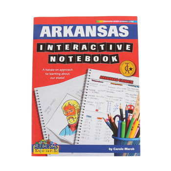Gallopade, Arkansas Interactive Notebook: A Hands-On Approach, Paperback, 68 Pages, Grades 3-5