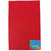 Silly Winks, Glitter Foam Sheet, Red, 12 x 18 Inches, 1 Each