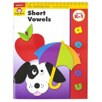 Evan-Moor, Learning Line Activity Book: Short Vowels, 32 Pages, Grades K-1