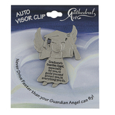 Abbey and CA Gift, Graduation Guardian Angel Visor Clip, Pewter, 2 x 1 1/2 inches