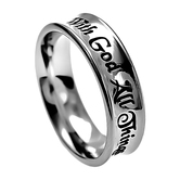 Spirit & Truth, With God All Things Are Possible, Purity Ring, Stainless Steel, Sizes 5-9