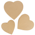 Paper Mache Heart Box, Set of 3 with Removable Lids, Small 7.50, 8.50, and 9.50 x 5-Inches