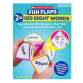 Scholastic, Fun Flaps 2nd 100 Sight Words Activity Book, Paperback, 64 Pages, Grades K-2