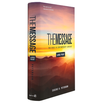 MSG The Message Large Print Bible, Hardcover