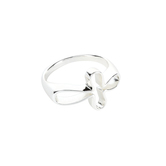 Dicksons, Horizontal Open Petal Cross, Women's Ring, Silver Plated, Sizes 6-9