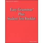 Easy Grammar Plus Student Test Booklet