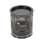 Darsee & David's, Black Sand & Cashmere Diamond Patterned Jar Candle, Black, 10 ounces