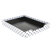 Schoolgirl Style, Simply Stylish Large Desk Tray, Black and White, 12 1/2 x 9 3/4 x 1 3/4 Inches