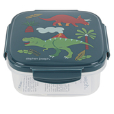 Stephen Joseph, Dino Snack Box with Ice Pack, Plastic, 6 x 6 x 2 1/2 inches
