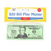 Learning Advantage, Twenty Dollar Bill Play Money, 6 1/4 x 2 1/2 inches, Set of 100