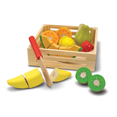 Melissa & Doug, Wooden Cutting Fruit Set, Ages 3 to 5 Years Old, 17 Pieces