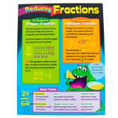 Trend, Anchor Chart: Reducing Fractions, Math STEM, 17 x 22 Inches, Grades 1-5