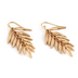 His Truly, Leaf Cluster Dangle Earrings, Zinc Alloy, Gold
