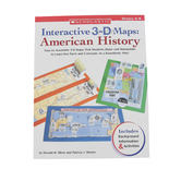 Scholastic, Interactive 3-D Maps: American History Activity Book, 112 Pages, Grades 4-8