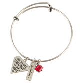 Bella Grace, Proverbs 31:10, Priceless, Wire Charm Bracelet, Zinc Alloy, Silver, 2 inch diameter