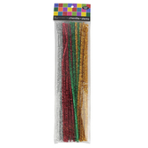 Tree House Studio, Chenille Stems, 12 x 1/4 Inches, Multi-Colored Tinsel, 50 Count