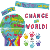Carson Dellosa, One World Together We Can Change the World Bulletin Board Set, 47 Pieces