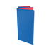 Peerless Plastics, Basic Kindermat Resting Mat, Small, Vinyl,  19 x 45 x 5/8 Inches, Red and Blue