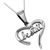 Spirit & Truth, Be Still Handwriting Necklace, Stainless Steel, 18 inches