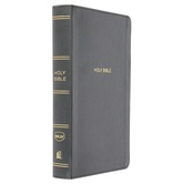 NKJV Personal Size Giant Print Reference Bible, Imitation Leather, Black
