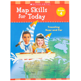 Scholastic, Map Skills for Today Grade 4: Traveling Near and Far Activity Book, Paperback, 48-Pages
