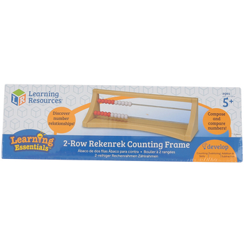 Learning Resources, 2-Row Rekenrek Counting Frame, Multi-Colored, 9 x 2.75 x 3 Inches, Grades PreK-1