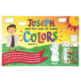 Salt & Light Kids, Joseph and the Coat Learning Mat, Plastic, 11 1/2 x 17 1/2 Inches, Ages 3 & Older