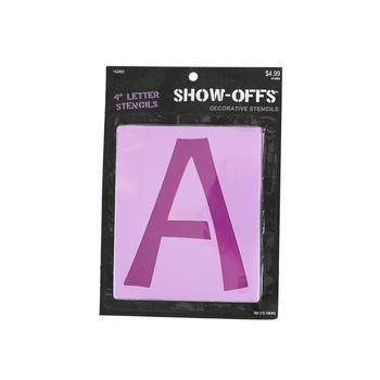 Show-Offs Uppercase Stencils, 4 inch