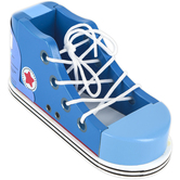 Brybelly, Cool Kicks Lacing Sneaker, Blue, 8 x 3 1/2 x 3 1/2 inches