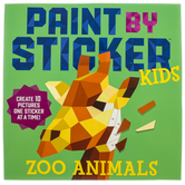 Paint by Sticker: Zoo Animals Kids Activity Book, Paperback, 34 Pages, Ages 5-12