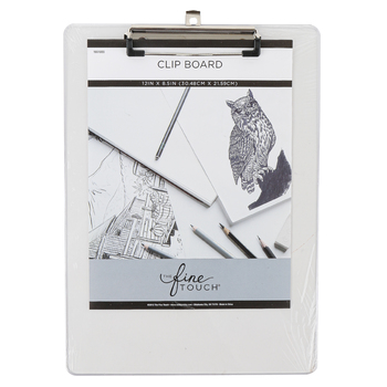 The Fine Touch, Clipboard, Plastic & Metal, Clear, 12 x 8 1/2 inches