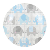 Brother Sister Design Studio, Welcome Little One Small Paper Plates, 8 Inches, Pack of 10