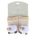 Stephan Baby, Lamb Rattle Socks, Cotton & Spandex, Cream & White, 3-12 Months