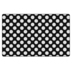 Flagship Carpets, Schoolgirl Style Black, White and Stylish Brights Polka Dots Rug, 5-foot x 7.6 Foot
