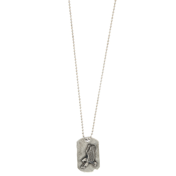 Dicksons, Isaiah 40:31 Dogtag with Eagle Pendant Necklace, Pewter, 21 inches