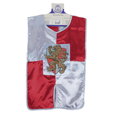 Liontouch, Prince Lionheart Tunic, Silver & Red, 30 1/2 x 23 1/4 inches