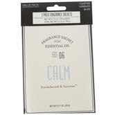 Calm Fragrance Sachet, Sandalwood and Incense, 3/4 Ounces
