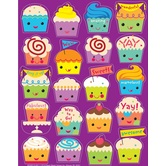 Eureka, Cupcakes Scented Stickers, 1 x 1 Inch, Multi-Colored, Pack of 80