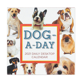 Time Factory, Dog-A-Day 2021 Daily Desktop Calendar, Paper, 5 1/2 x 5 1/2 inches