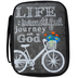 Swanson, Life is a Beautiful Journey with God Bible Cover, Canvas, Gray, Medium