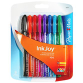 Paper Mate, InkJoy Ballpoint Pens, Medium Point, Assorted Colors, Pack of 8