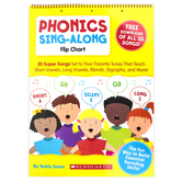 Scholastic, Phonics Sing-along Flip Chart with Free Song Download, Spiral, Grades PreK-1