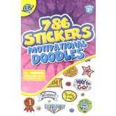 Eureka, Motivational Doodles Sticker Book, 5.75 x 9.5 Inches, Book of 786